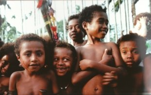 Children on Losuia Island, Papua New Guinea