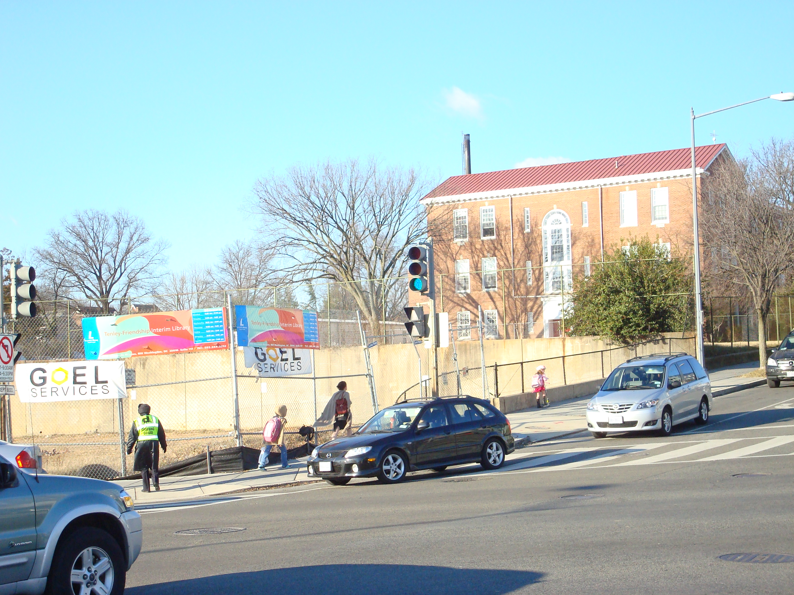 Tenleytown DC, library lot and elementary school